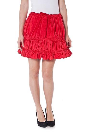 Denny Rose 2530 Falda Corta Mujer Rojo Uni: Amazon.es: Ropa y ...
