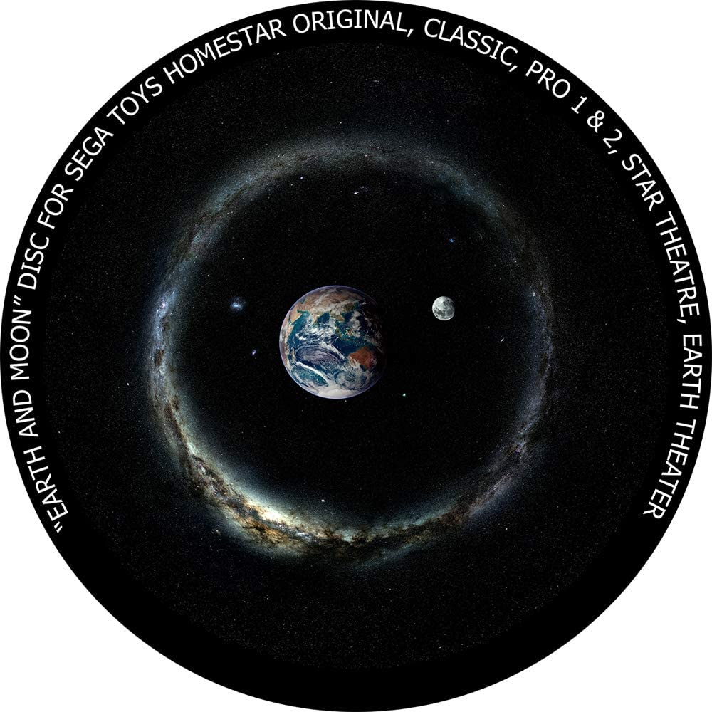 Earth and Moon - disc for Sega Toys Homestar Classic/Flux/Original Planetarium