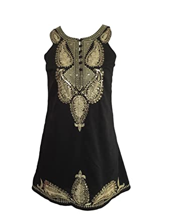 Free People Black Gold Sequin Dress Size 6 At Amazon Womens