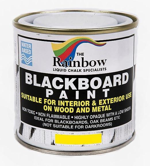 Pintura efecto pizarra, 250 ml, para tiza líquida y seca, color marrón: Amazon.es: Bricolaje y herramientas