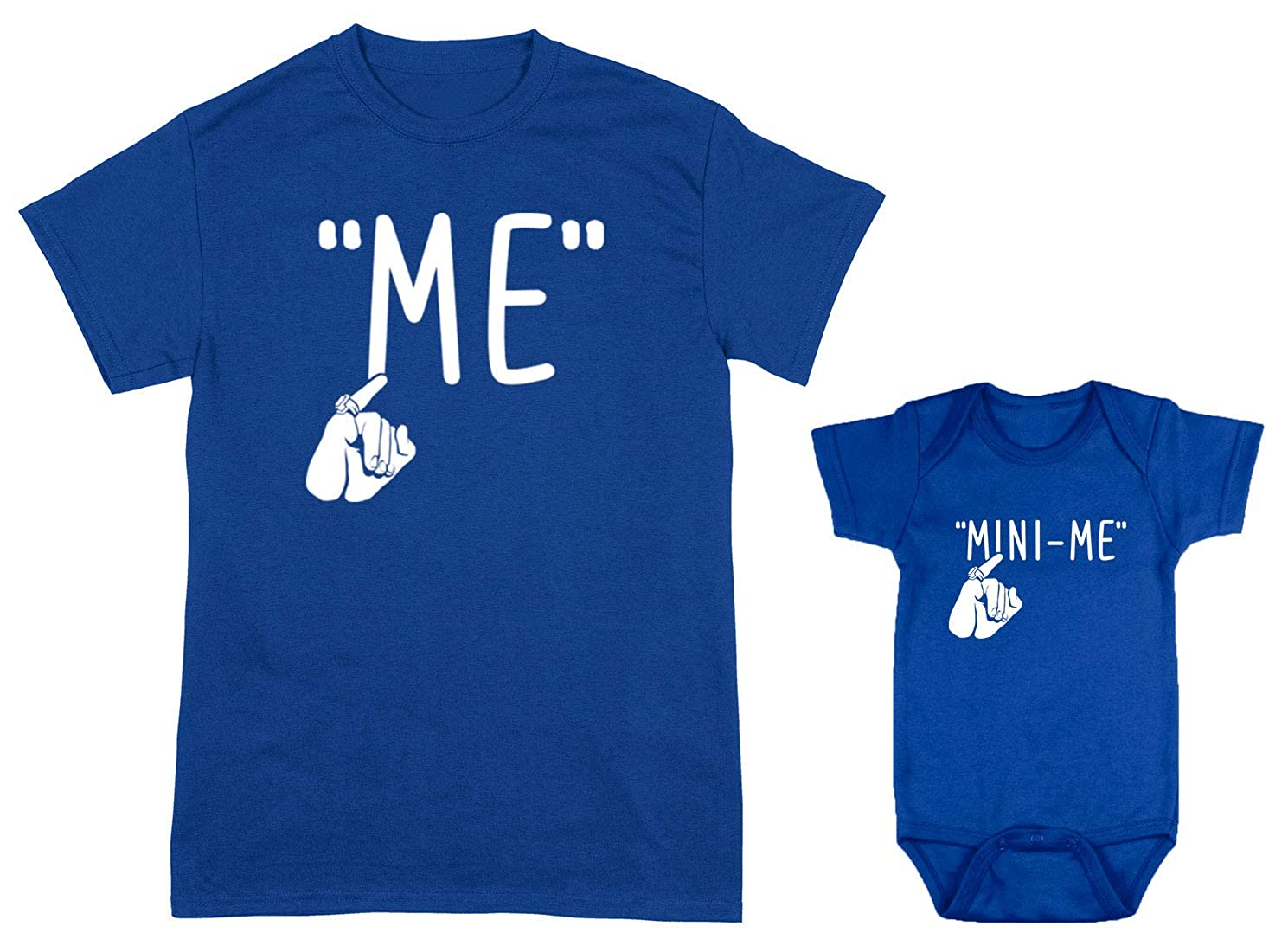 e2c0703f15 Amazon.com  HAASE UNLIMITED Me Mini-Me 2-Pack Bodysuit   Men s T-Shirt  (Royal Royal