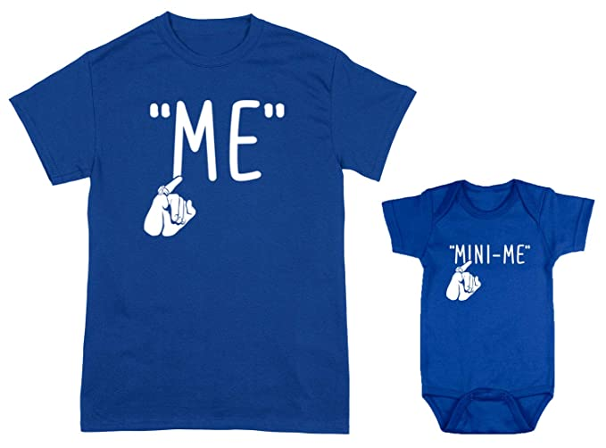 ed8f339a82 Image Unavailable. Image not available for. Color  HAASE UNLIMITED Me Mini-Me  2-Pack Bodysuit   Men s T-Shirt
