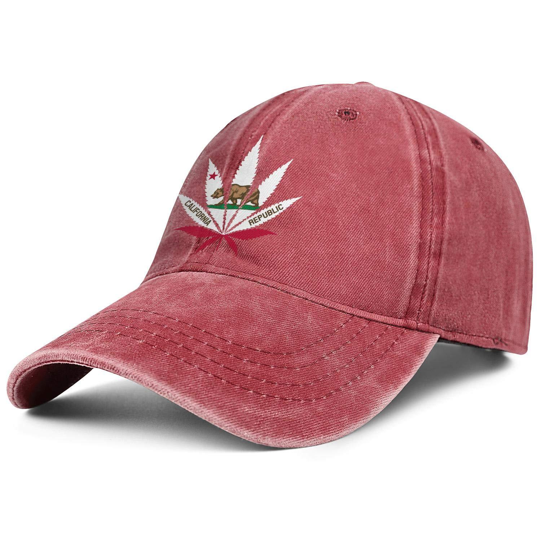 420 Cannabis Culture California Flag Unisex Baseball Cap Lightweight Running Hats Adjustable Trucker Caps Dad-Hat