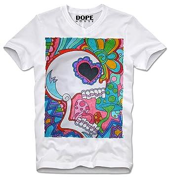 dopehouse t shirt psychedelic art skull trip tripping lsd mdma Time On Acid dopehouse t shirt psychedelic art skull trip tripping lsd mdma ecstasy acid s