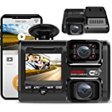 2021 Upgrade 4K 2160P Front and Cabin 1080P+1080P Dual FHD Dash Cam Built in WiFi for Cars Taxi, 24H Parking Monitor, Infrare