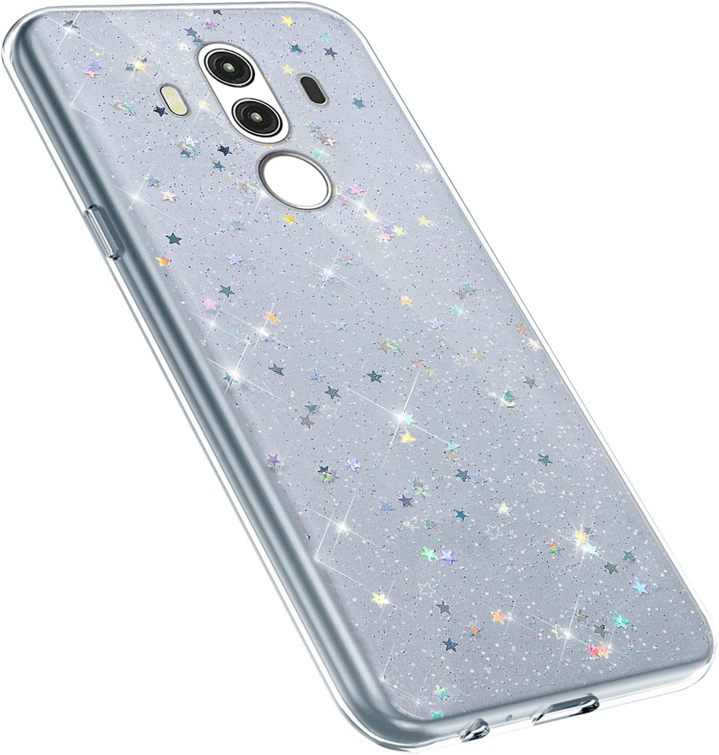 MoreChioce kompatibel mit Huawei Mate 10 Pro H/ülle,kompatibel mit Huawei Mate 10 Pro Glitzer Handyh/ülle,Kreativ Durchsichtig Dot Bling Paillette Strass Silikonh/ülle Schutzh/ülle Flexible Bumper