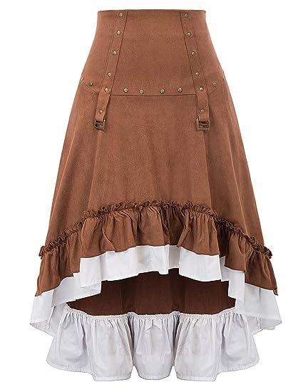 SCARLET DARKNESS Falda de Mujer Vintage Medieval Victoriano Alto ...