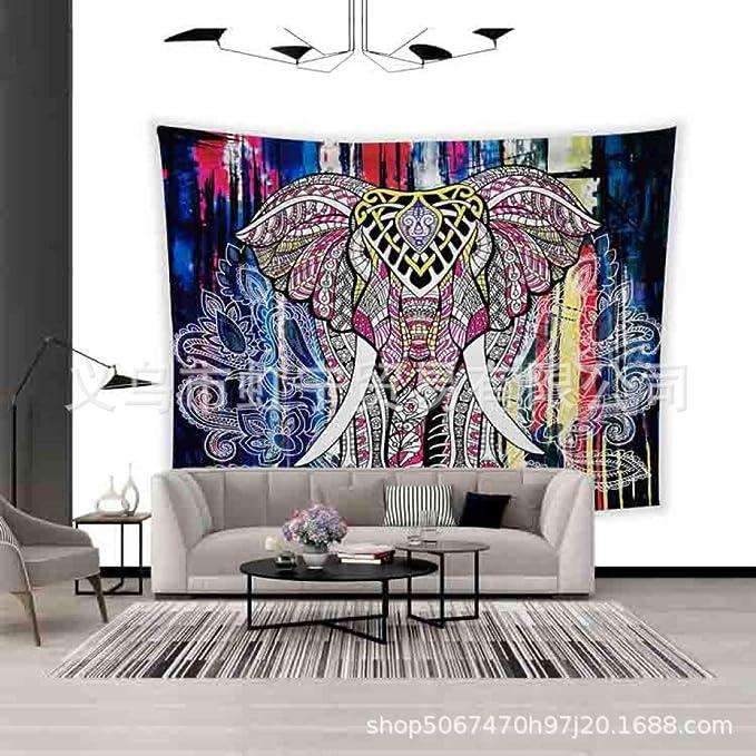 jzxjzx Colorido Estampado de Elefantes tapicería casera ...