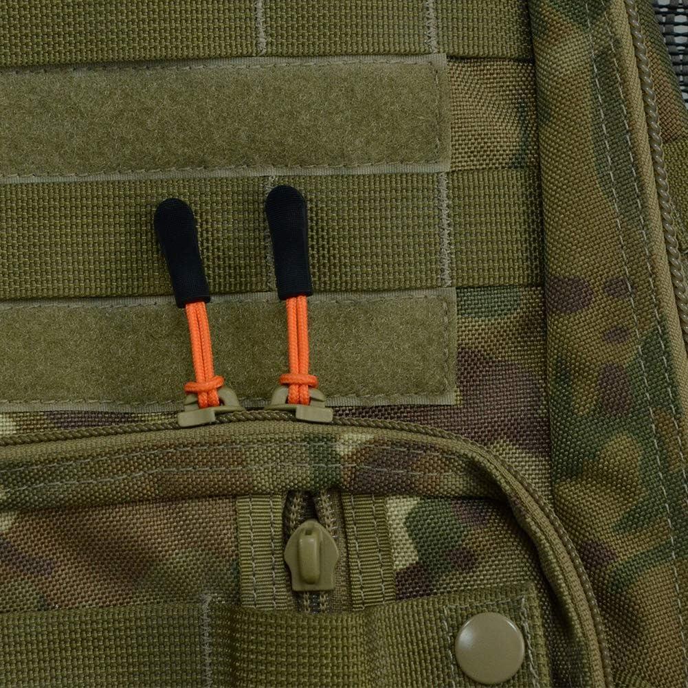 Handbags Luggage 10PCS, Orange Jackets Purses DYZD Durable Zipper Pulls Zipper Tab Zipper Tags Cord Pulls Zipper Extension Zip Fixer for Backpacks