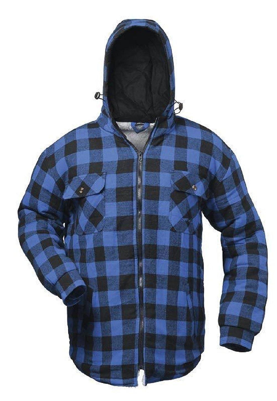 CRAFTLAND Thermohemd mit Kapuze - Holzfällerhemd, Winterhemd, Flanell-Hemd 2578