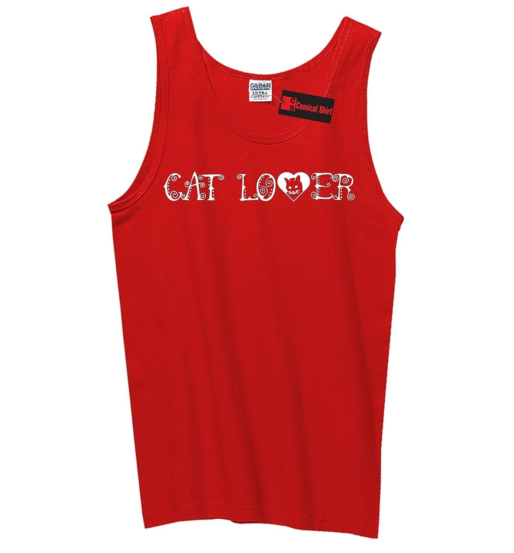 Comical Shirt Mens Cat Lover Tank Top
