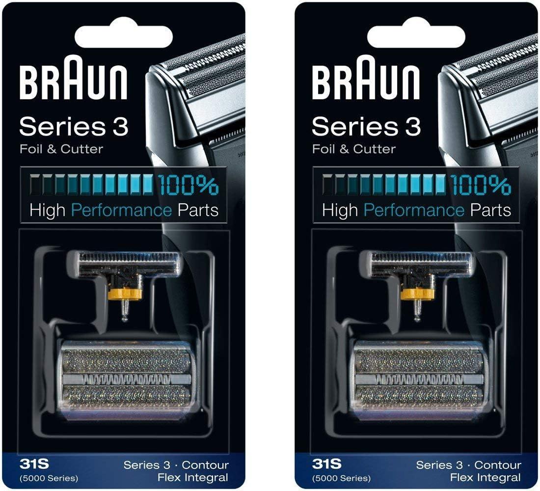 Braun Cortador y 31S 5000/6000 Series contorno Flex XP Integral lámina cabeza recambio Combi Pack, cuenta 2: Amazon.es: Salud y cuidado personal