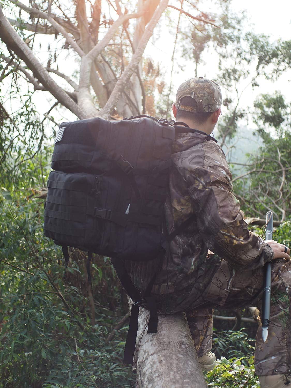 Songwin Militaire Tactique Sac /à Dos,Multifonction /& Etanche Arm/ée Compact Assault Pack,Sac Voyage Daypack pour Randonn/ée Trekking Camping 43L.