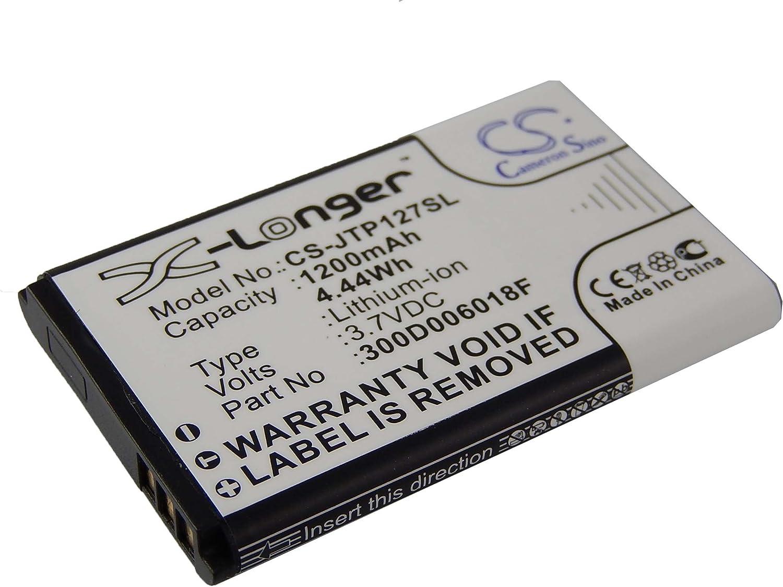 vhbw Batería Li-Ion 1200mAh (3.7V) móvil Smartphone teléfono JCB ...