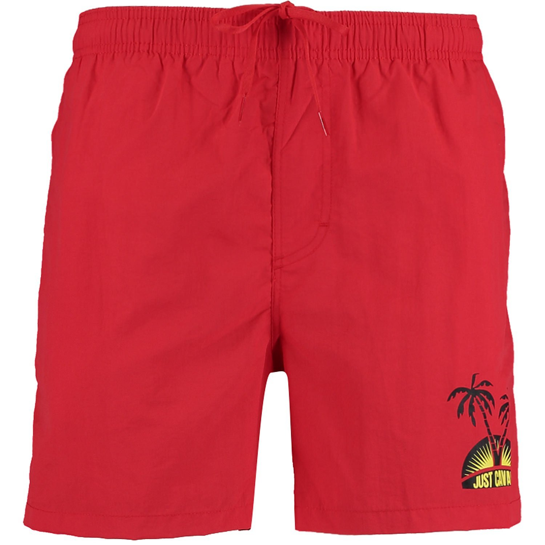 JUST CAVALLI Red Palm Tree Logo Swim Shorts