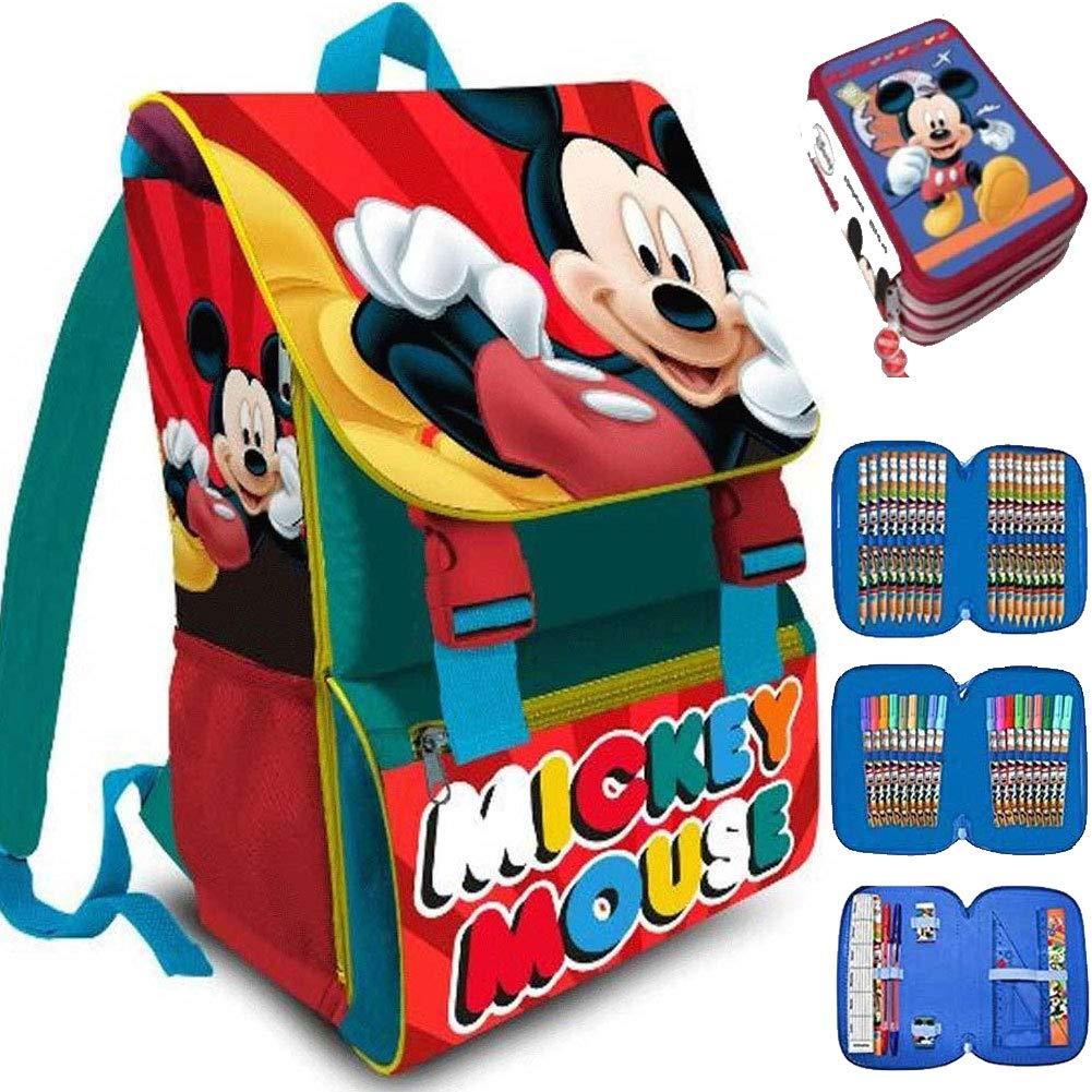BAKAJI ,  Schultaschen-Set mehrfarbig mehrfarbig
