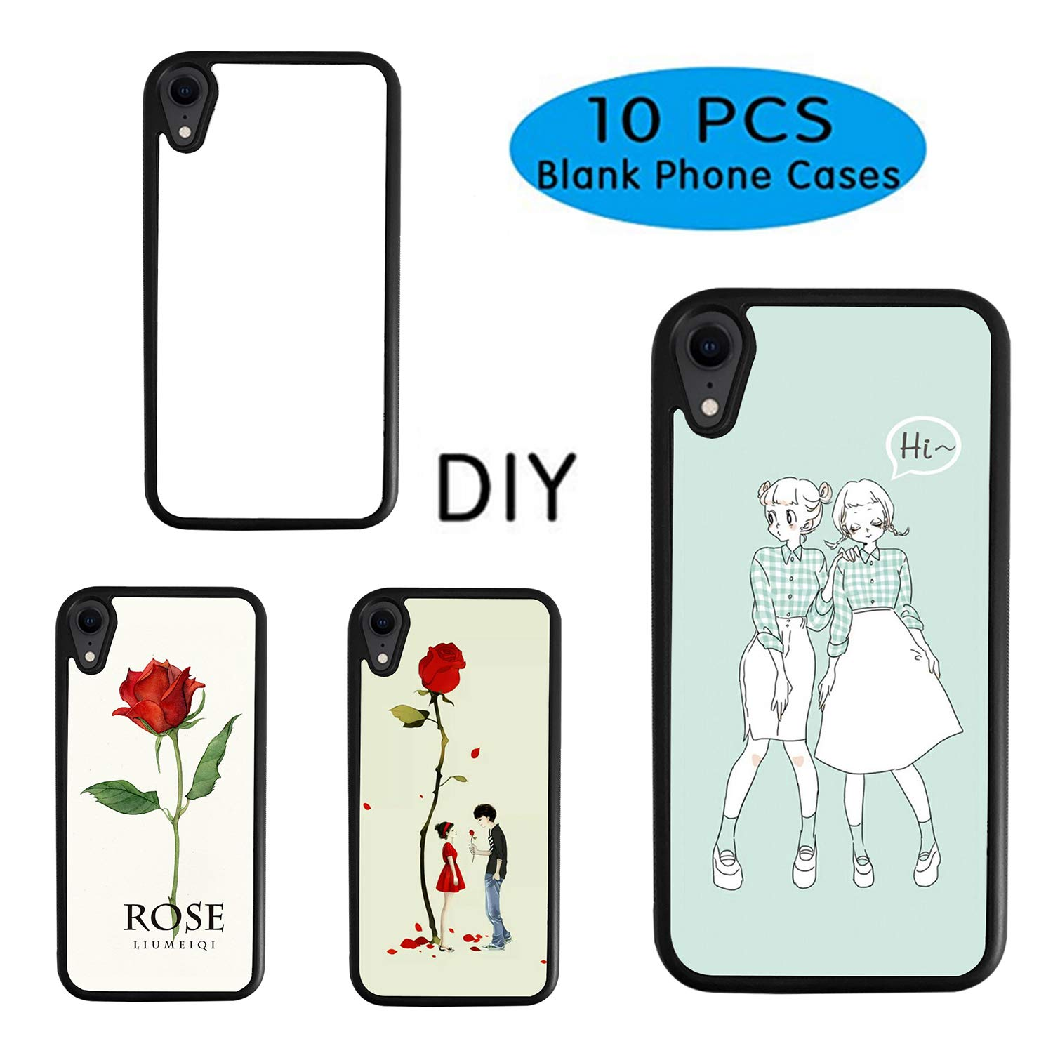 photo about Printable Phone Case named 10Desktops Sublimation Blanks Cellular phone Scenario Handles for apple iphone XR 6.1 Inch Printable Cell phone Scenario