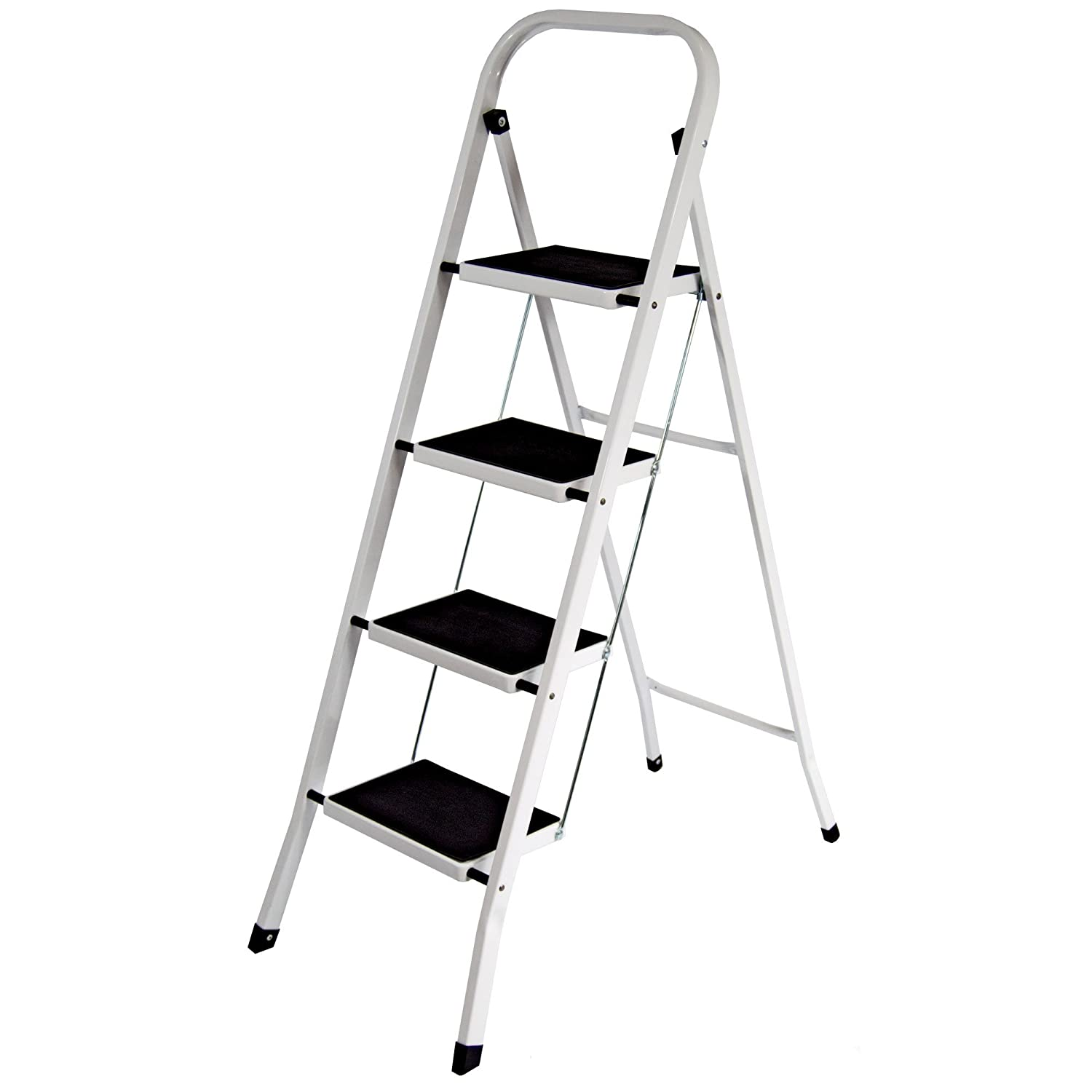 Home Vida 4-Step Steel Portable Folding Heavy Duty Ladder - Multi-Colour