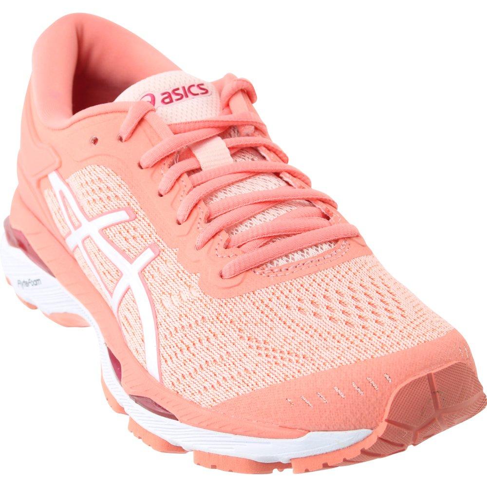 Asics Womens Gel-Kayano 24 Seashell Pink/White/Begonia Pink Running Shoe - 8
