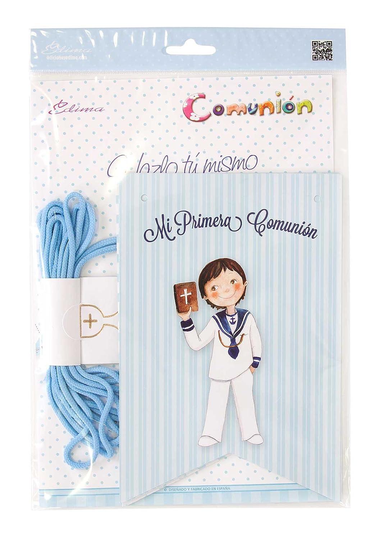 Edima - Bolsa con banderines Mi Primera Comunión DIY (465905-B): Amazon.es: Juguetes y juegos