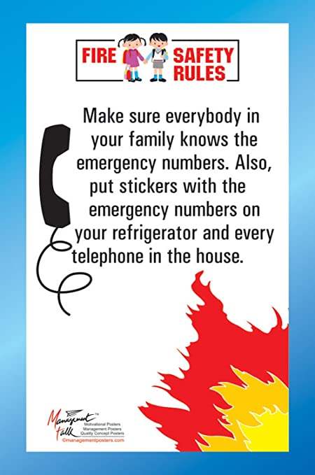 Managementtalk Posters Fire Safety Rules Make Sure Everybody Knows