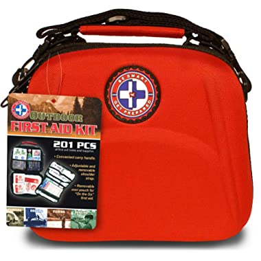 Be Smart Get Prepared 201 Piece First Aid Kit - Office, Home, Car, School, Emergency, Survival, Camping, Hunting, Sports and Outdoors