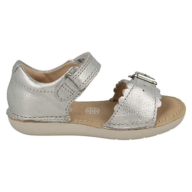 b22dc08213b Clarks Girls Summer Sandals Ivy Flora - Silver Leather - UK Size 5F - EU  Size 21 - US Size 5.5M  Amazon.co.uk  Shoes   Bags