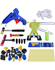 FLY5D 46Pcs Auto Body Paintless Dent Removal Tools Kit Pops a Dent Bridge Puller Kits with Tap Down Tools