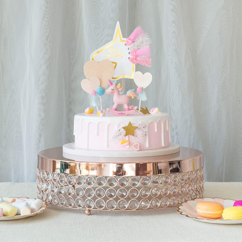 Groovy Amazon Com Efavormart Rose Gold Fancy Beaded Crystal Metal Cake Funny Birthday Cards Online Alyptdamsfinfo