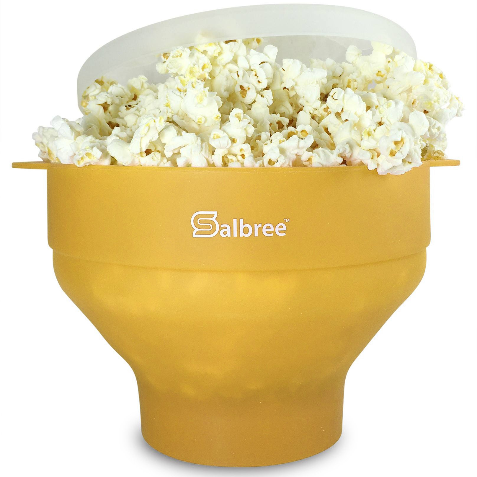 The Original Salbree Microwave Popcorn Popper, Silicone Popcorn Maker, Collapsible Bowl BPA Free - 14 Colors Available (Yellow)