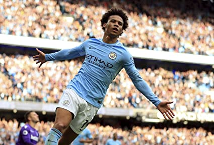 c55a522f1c71 Import Posters Manchester City F.C – Leroy Sane – Football Wall Poster  Print - 30CM X