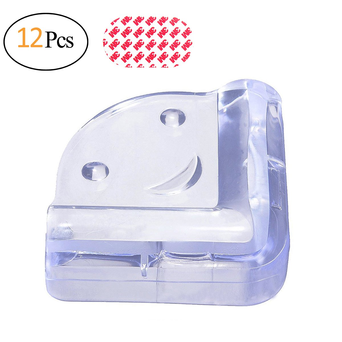 4X Clear Rubber Furniture Corner Edge Table Cushion Guard Protector Baby Safty