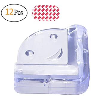 Biubee 12 Pack Baby Clear Safety Corner Guards   Corner Proctor Furniture  Edge Soft Bumpers