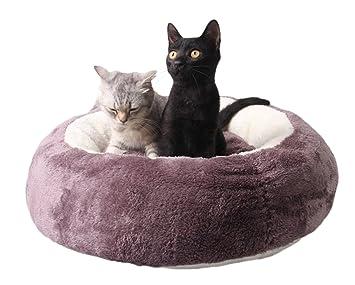 Cama Redonda Para Gatos, Legendog Cama Para Gatos Antideslizante Felpa Cama Caliente Para Gatos Cama Para Perros Con Cama Desmontable Para Perros Con Gato: ...