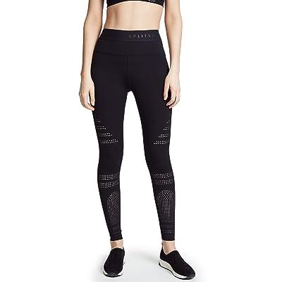 Splits59 Women's Series High Waist Tight Leggings, Black, Large at Women's Clothing store