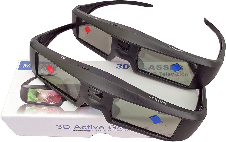 Amazon Com 2x Sintron St07 Bt 3d Active Shutter Glasses Rechargeable For Rf 3d Tv 3d Glasses For Sony Panasonic Samsung 3d Tv Epson 3d Projector Compatible With Tdg Bt500a Ty Er3d5ma Ty Er3d4ma Tdg Bt400a Computers