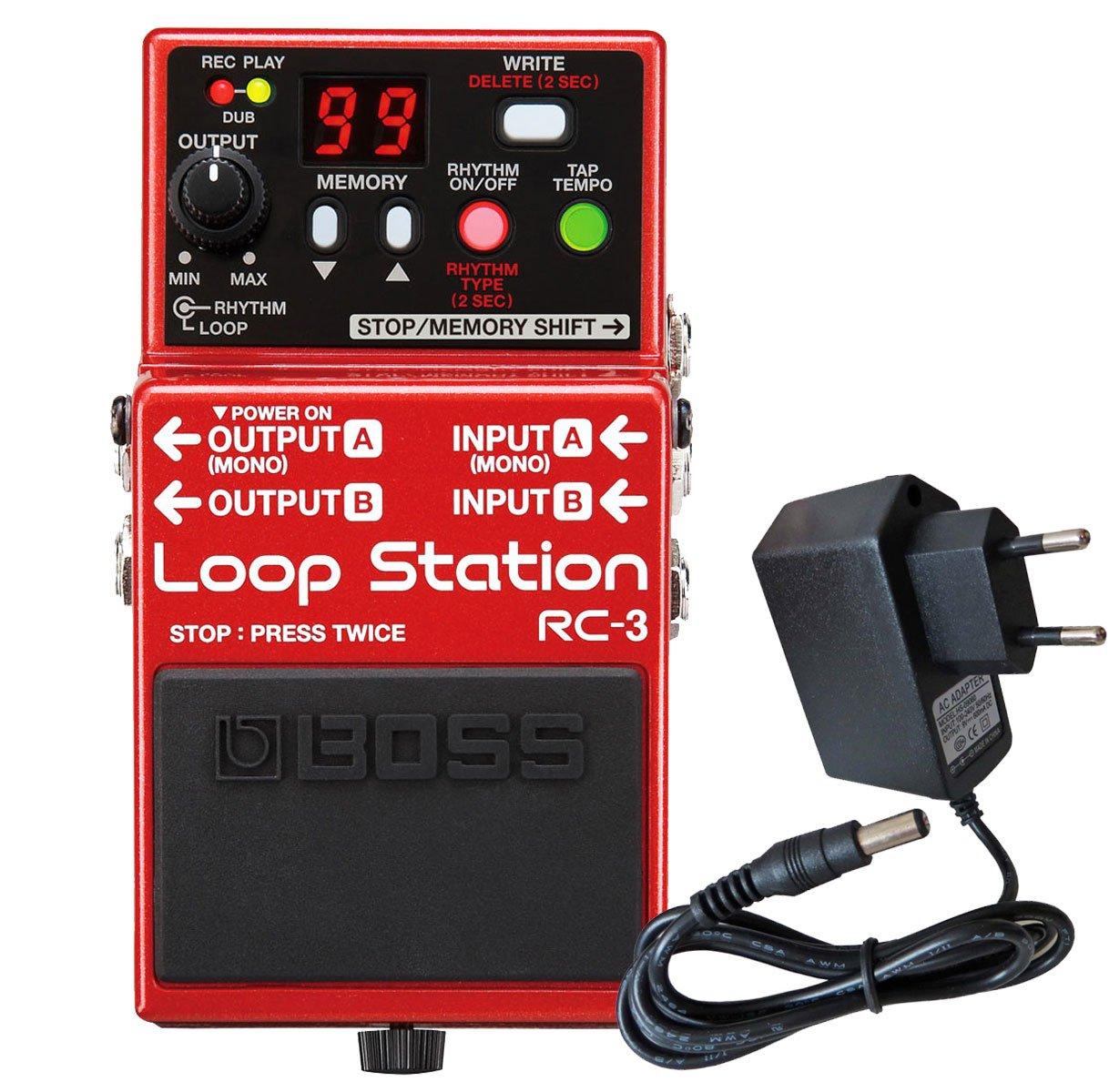 Boss RC-3 Loop Station Effekt-Pedal + KEEPDRUM Netzteil 9V Boss Guitar Equipment