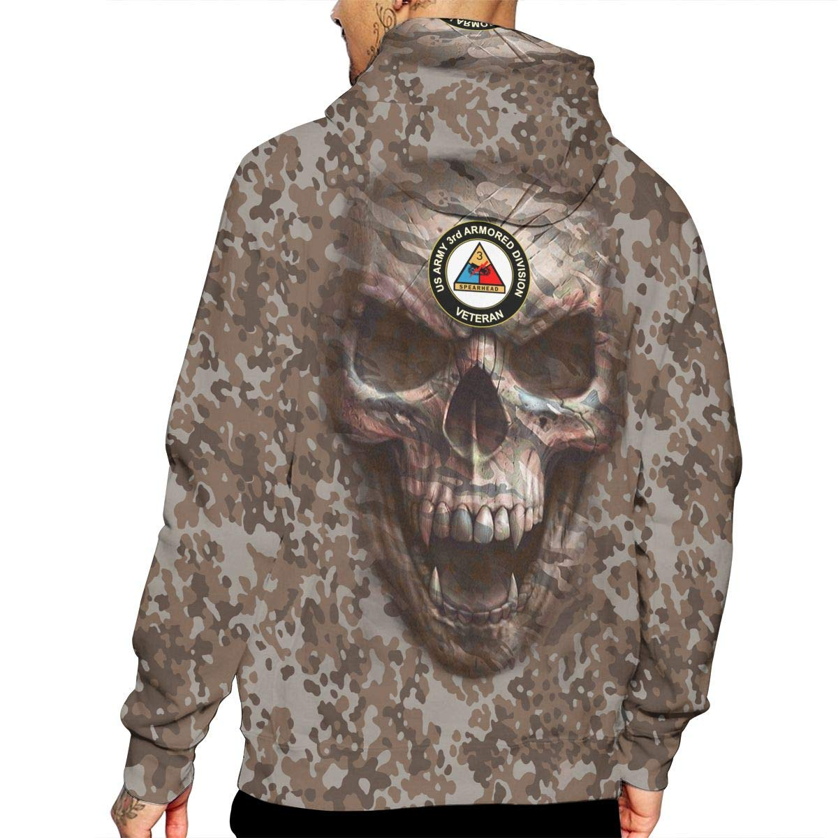 US Army Veteran 3rd Armored Division Unisex 3D Printed Pullover Hoodie Hooded Sweatshirt