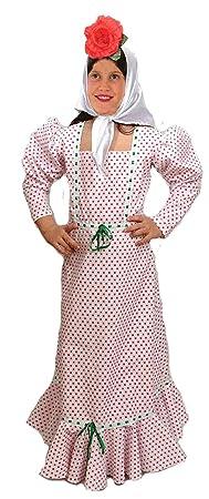 EL CARNAVAL Disfraz Chulapa niña Talla de 6 a 8 años