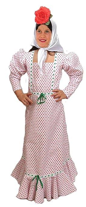 EL CARNAVAL Disfraz chulapa Infantil. Talla de 2 a 4 años