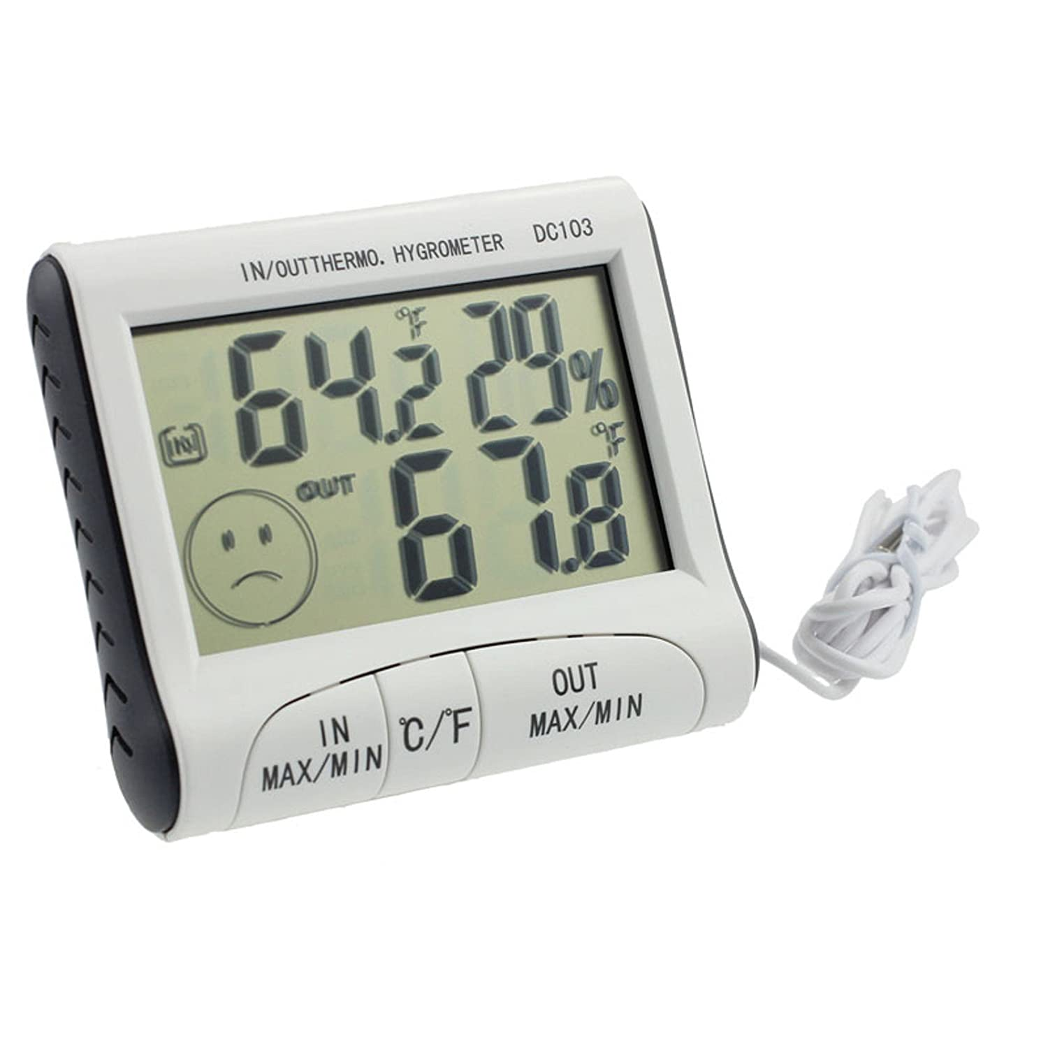 Digitales Thermo-Hygrometer, FNKDOR Home Gebrauch Multifunktionaler Thermometer, LCD Display Temperatur Feuchtigkeit