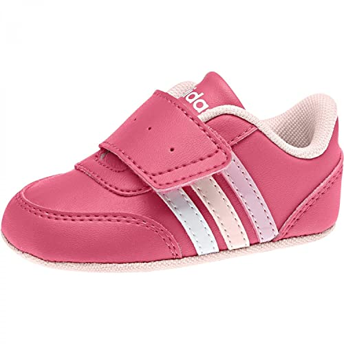 cded489dedb Adidas NEO Shoes Girls Infants Jog Crib Soft Leather Baby Pink ...