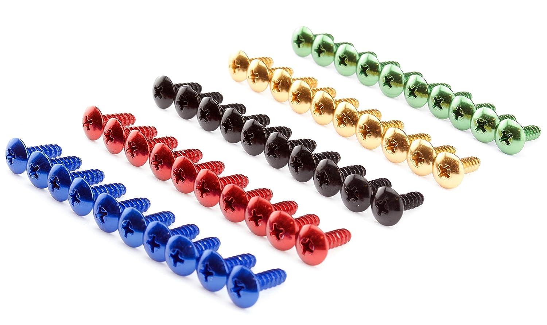 16mm Menge:10er Set Verkleidungsschrauben 5mm Auto Motorrad Roller Aluminium rot blau schwarz gold gr/ün Alu farbig bunt 13 und 16mm lang Abmessung//Farbe:blau eloxiert
