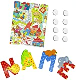 Set Sevi Holzbuchstaben Tiere für Wunschname inkl Geschenkverpackung & Klebepunkte Türbuchstaben Holz Dekobuchstaben