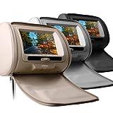 (HD705)7インチ 高画質 ヘッドレスト DVDプレーヤー 2個セット (グレー)