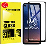 CaseExpert 2 Pack - Motorola One Vision Protector de Pantalla, Ultra Tanque Transparente Cristal 9H Cristal Templado Glass Pr