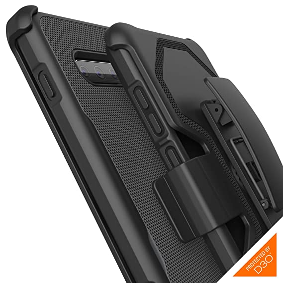 pretty nice a588b ea04c Gear4 Platoon Case with Holster with Advanced Impact Protection [ Protected  by D3O ], Tough, Ultra-Durable Design for Samsung Galaxy S10 Plus - Black