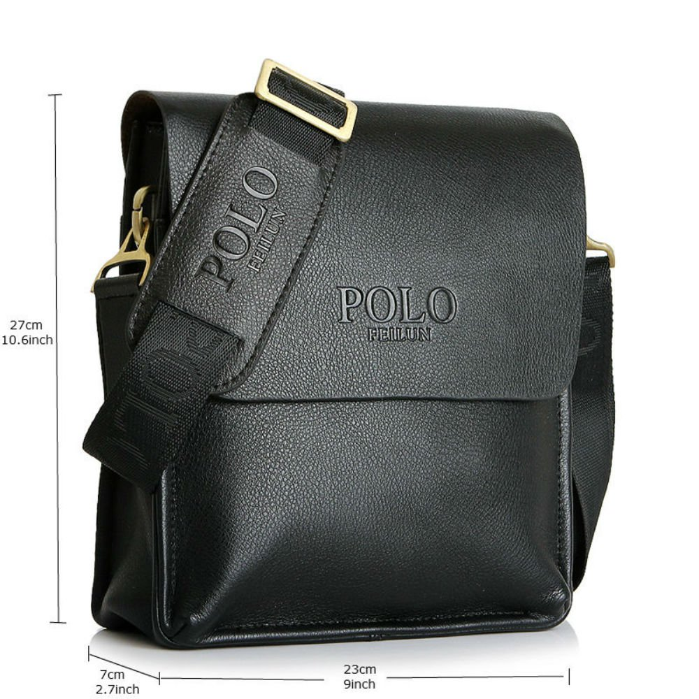 Amazon.com  POLO FEILUN Men s Messenger Bag Classic Vintage Genuine Leather  Shoulder Bags Crossbody Bags Briefcase Business Composite Leather Casual Bag  ... 35fc07bfb5715