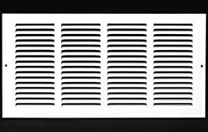 """16""""w X 8""""h Steel Return Air Grilles - Sidewall and Ceiling - HVAC Duct Cover - White [Outer Dimensions: 17.75""""w X 9.75""""h]"""