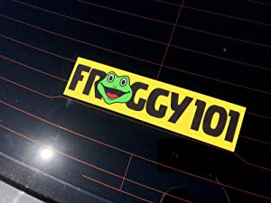 New Froggy 101 Bumper Sticker, The Office Froggy 101 Bumper Sticker, Desk Sticker-by NANSY